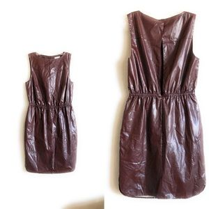 Leith Sheath dress Sleeveless Choco Brown Small